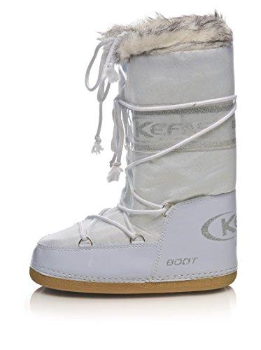Kefas - Husky Glitter - Damen Schneestiefel After Ski Boots Weiß