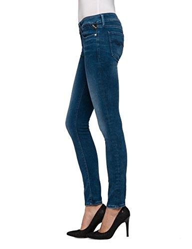Azul Replay Ajustados Mujer Luz Denim blue Para Jeans 9 qffxXwHRS