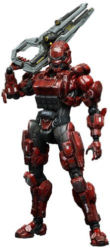 Square-Enix Halo 4 Spartan Solider Play Arts Kai Action Figure, Red