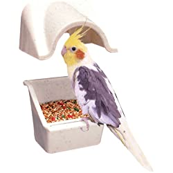 Penn Plax Universal Cup Canopy for Cockatiels and Medium Birds - Pack of Two