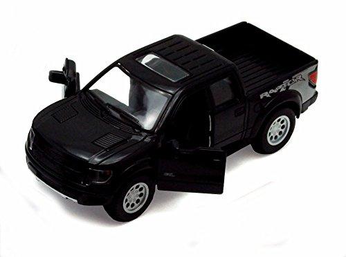 2013 Ford F-150 SVT Raptor SuperCrew Pickup Truck, Black - Kinsmart 5365D - 1/46 scale Diecast Model Toy Car (Brand New, but NO BOX) Ford Svt Pickup Truck