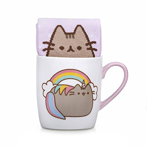 Official Licensed Pusheen Sock in a Mug Set - Choose From Four Different Designs