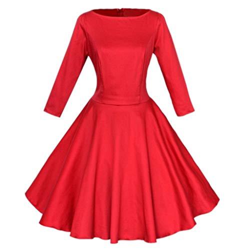 Women's Casual Long Sleeve O Neck High Waist Loose AmyDong Autumn Party Tutu Mini Swing Dress Above Knee