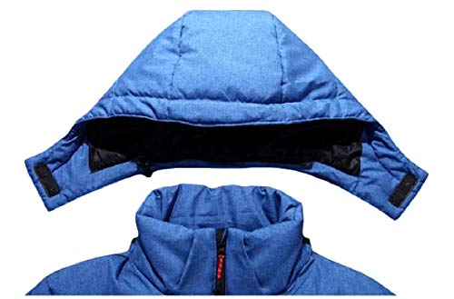 Men Style Puffer Thicken XINHEO Hood Removeable Parka Outwear Short Down Blue dtxq441