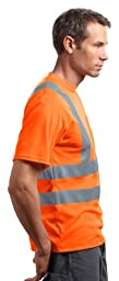 CornerStone Red Kap - Short Sleeve Reflective T-Shirt>M Safety Yellow CS408