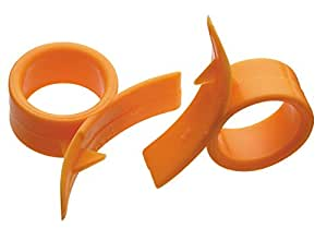 Set Of 2 Finger Held Orange Peelers