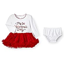Sequin My First Valentine's Day Baby Girls Tutu Dress & Diaper Cover