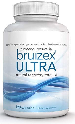 BRUIZEX Ultra Bruising Relief Supplement, 120 Capsules | Swelling Surgery Supplements for Bruised Skin and Trauma Recovery | Contains Bromelain, Quercetin, Turmeric and Boswellia