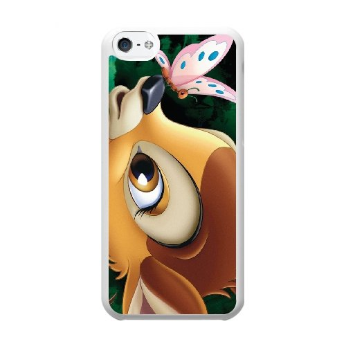 Coque,Coque iphone 5C Case Coque, Cover Coque iphone 5 Bambi Cover For Coque iphone 5C Cell Phone Case Cover blanc