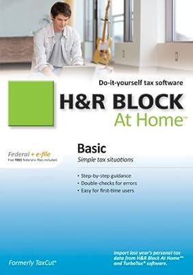 H&R Block At Home 2010 Basic Federal + eFile