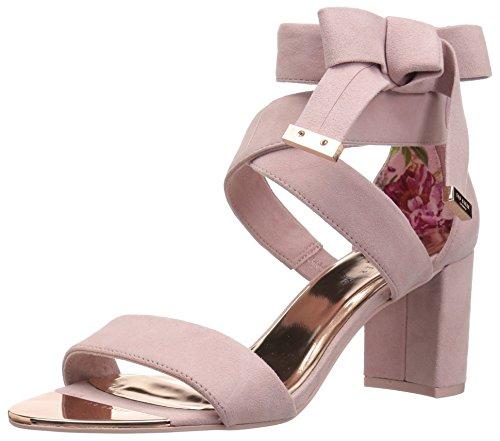(Ted Baker Women's NOXEN 2 Heeled Sandal, Mink Pink Suede, 9 M US)