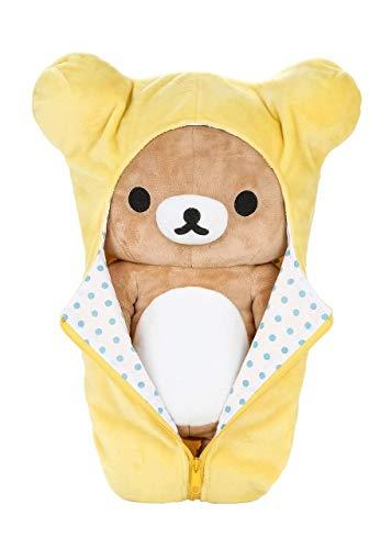 Rilakkuma Sleeping Bag Plush | Yellow - 15 Inch | San X Plushie 2