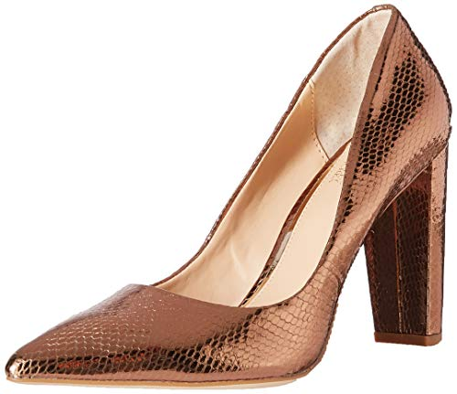 Jewel Badgley Mischka Women's RUMOR II Shoe, Bronze Printed Snake, 9.5 M US
