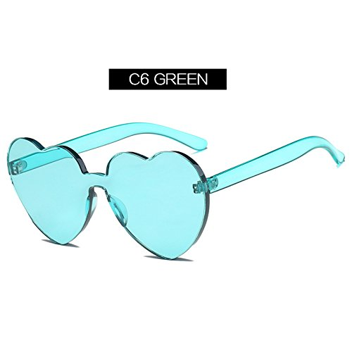 928632a0e7 Barato TIANLIANG04 Gafas de sol en forma de corazón la mujer estilo Ojo de  Gato forma ...
