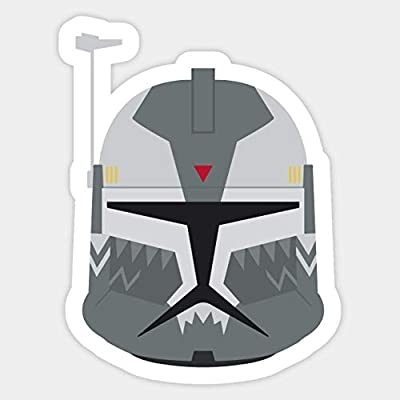 Commander Wolffe Head Phase 1 v1 - Sticker Graphic - Car Vinyl Sticker Decal Bumper Sticker for Auto Cars Trucks: Kitchen & Dining