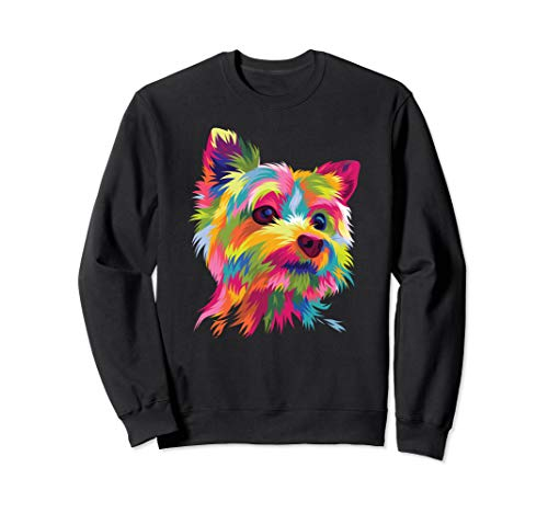 Yorkshire Terrier Sweatshirt Yorkie Pop Art Popart Dog -