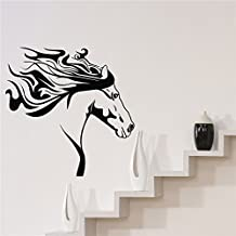 WALL'S MATTER Removable Wall Sticker Horse Silhouette Western Wall Art Mural Vinyl Decal