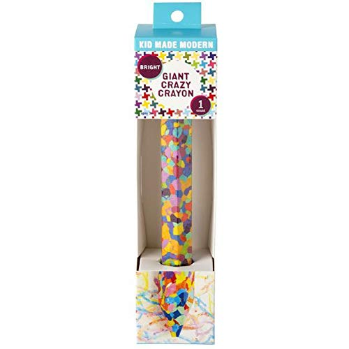Kid Made Modern Giant Crazy Crayon - 15 Bright Colors Molded Into ONE Crayon