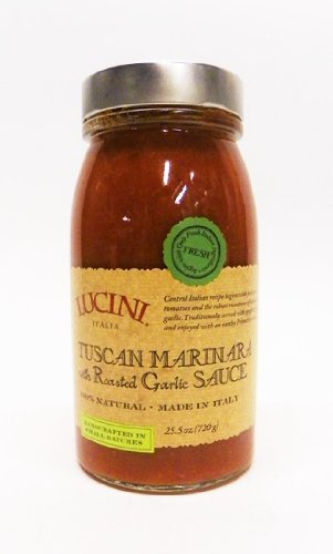(Lucini Italia Tuscan Marinara W/Roasted Garlic, 25.5-Ounce (pack of 6) )