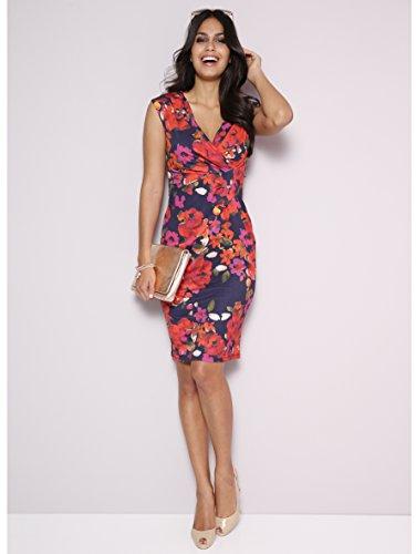 Knotendetail Jersey Wickelausschnitt V Damen KIM Knotendetail Wickelausschnitt V Multicolor Ausschnitt Kleid KARA Ausschnitt Kleid gxxwSpq