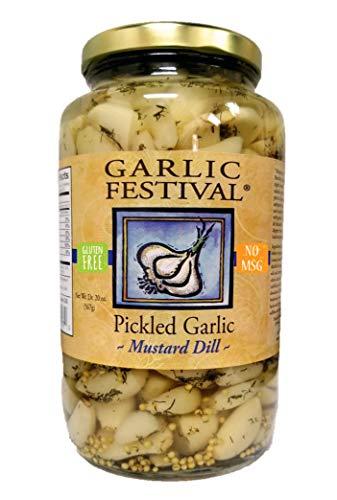 Mustard Dill Pickled Garlic Quart (32 oz.)
