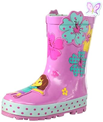 Amazon.com: Nickelodeon Little Girls'Dora Rain Boots: Clothing