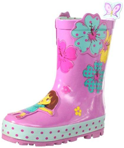 Nickelodeon Little Girls'  Dora Rain Boots, Pink, 10
