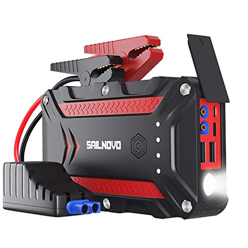 Sailnovo 1200A Waterproof Car Jump Starter(7.5L Gas & 6L Diesel Engine) With Dual USB QC3.0&PD Type-C, 12V Portable Auto Battery Booster Power Pack Phone Charger with Jumper Cables and LED Flahslight from Sailnovo