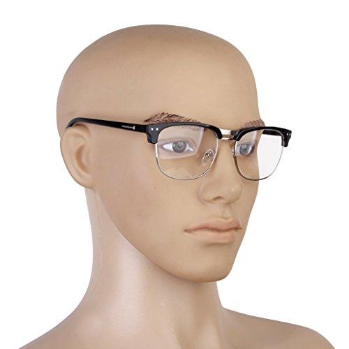 Cadre Style Lunettes Prettyia Unisexe Lunettes P Spectacles Mode Vintage Noir PpzBq