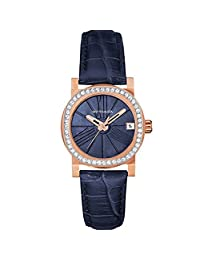 WITTNAUER WN2000 Women's Adele Mini Blue Leather Band Watch
