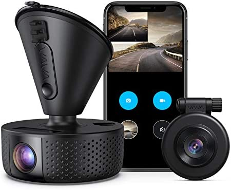 Dual Dash cam | VAVA Dual 1920x1080P FHD | Front and Rear sprint digicam | 2560x1440P Single Front| for vehicles with Wi-Fi | Night Vision | Parking Mode | G-sensor | WDR | Loop recording| Support 128GB Max