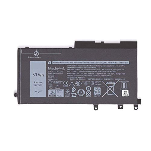 Dentsing 11.4V 51Wh 93FTF Laptop Battery Replacement For Dell Precision 15 3520 Latitude  E5480 E5580 E5590 5280 Series Notebook D4CMT