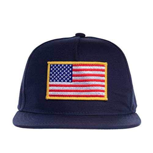 Knuckleheads Clothing Baby Boy Infant Trucker Sun Hat Toddler Mesh Baseball Cap USA Navy M 53 cm 2 to 5 Years]()
