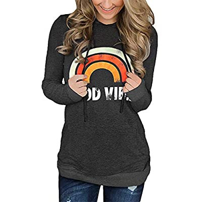 onlypuff Womens Hoodie Sweatshirts Casual Tunic Tops Long Sleeve Tie Dye Shirts with Pockets at Women's Clothing store