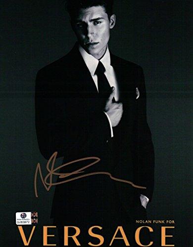 Nolan Funk Signed Autographed 8X10 Photo Glee Sexy Versace Suit - Versace Online