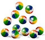 "Neliblu 12"" Classic Inflatable Rainbow Beach Balls - Pool Party Favors - Beach"