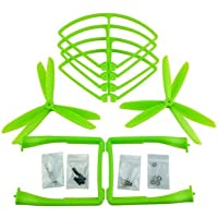 UUMART Propeller+Prop Guard+Landing Skid for Syma X8C X8W X8G X8HW RC Quadcopter Spare Parts Upgrade 3-Blade Propeller-Green