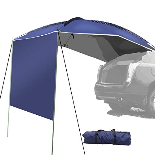 UBOWAY Awning Sun Shelter – Waterproof Auto Canopy Camper Trailer Tent Roof Top for SUV, MPV, Hatchback, Minivan, Sedan, Camping, Outdoor,5-6Persons