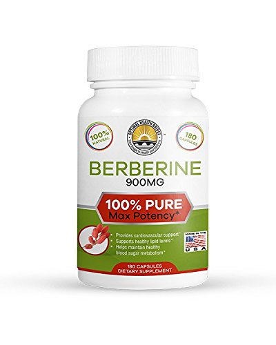 Heartbeat Cholesterol Support - 180 Capsules Pure Berberine Proper Dosage 3X - Bio Active Wonder - Crazy Effective! New Product Launch Pricing!