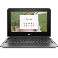 HP Chromebook 11 x 360 2-IN-1 11.6 (1366x768) TOUCHSCREEN, Celeron Dual-Core N3350, 32GB SSD, 4GB, Bluetooth, Webcam Chrome OS (GRAY) (Certified Refurbished)