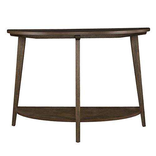 Furniture HotSpot -Demilune Console Table - Burnt Oak w/ Gray Wash - 42