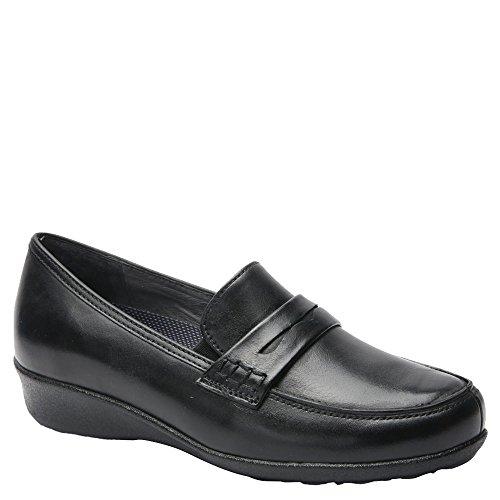 Drew Shoe Women's Berlin Slip On Loafers, Black, Leather, 7.5 - Shopping Berlin
