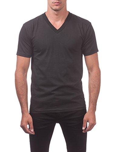 Pro Club Men's Comfort Short Sleeve V-Neck T-Shirt, Black, 5X-Large