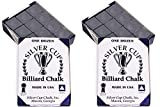 Silver Cup Billiard Chalk - ONE Dozen (Charcoal) 2