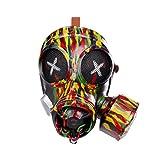NUOBESTY Halloween Punk Gas Mask Halloween Costume