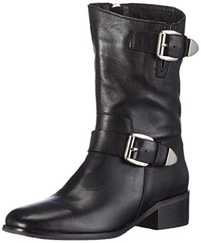 Noir Femme Bottes Motard de Jy1510 Giudecca de Froide Hauteur Noir Doublure Moyenne 1 Uqw7vxvC4