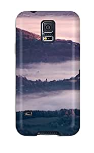 For Galaxy S5 Protector Case Foggy Landscape Phone Cover