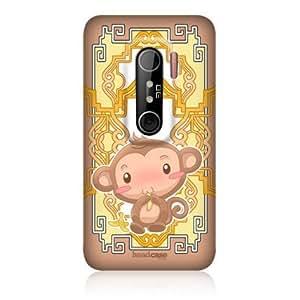 Bloutina Head Case Monkey Zodiac Animal Design Protective Back Case Cover For HTC EVO 3D
