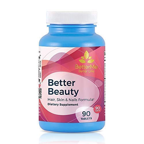 - Better Beauty, Hair, Skin and Nails Supplement, 3,500 mcg Biotin, 70 mcg Selenium, 250 mg Hydrolyzed Gelatin, 10 mg Pantothenic Acid, 90 Tablets