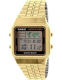 Casio Men's A500WGA-1 Gold Metal Quartz Watch